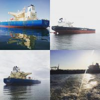 CRUDE OIL/DPP Carrier 'MT Delta Tolmi' & 'MT Delta Med' (Delta Tankers Ltd) called Thessaloniki port to discharge crude oil.  May 2019